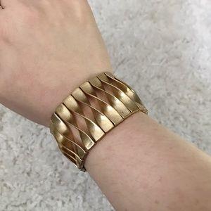 CHLOE & ISABEL Gold Cuff Twist Bracelet